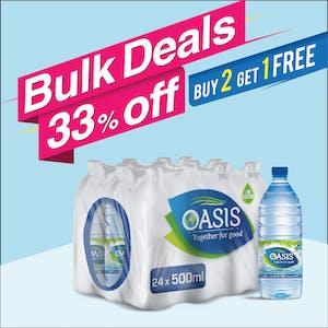 Bulk Offer Oasis Still 500 ml Pack of 24  (Buy 2 Packs + Get 1 Pack Free)