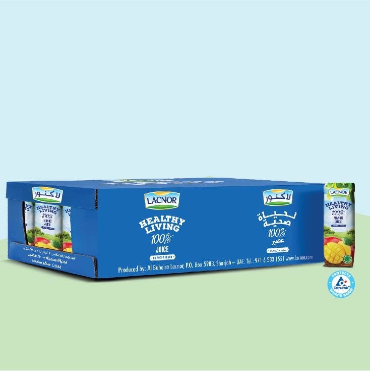Lacnor Healthy Living Mango 250 ml - Carton of 24