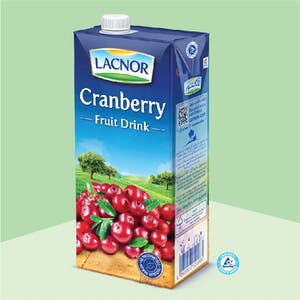 Lacnor Long Life Cranberry - 1L x 1