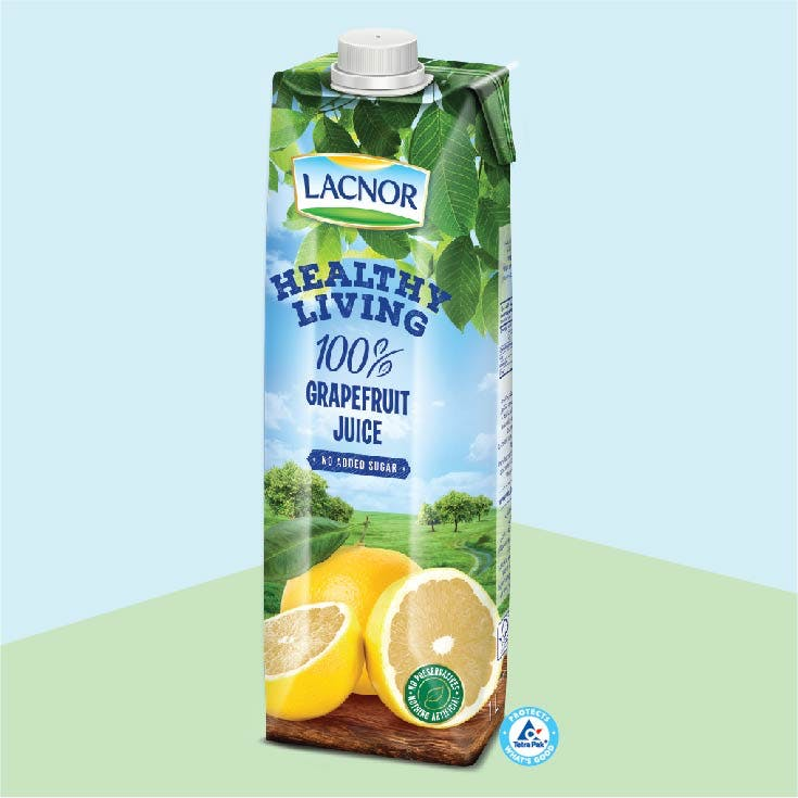 Lacnor Healthy Living Grapefruit -1L x 1