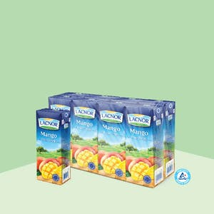Lacnor Long Life Mango 180ml - Pack of 8