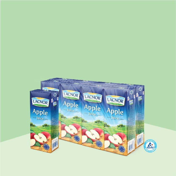 Lacnor Long Life Apple 180ml - Pack of 8