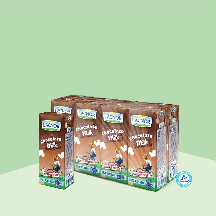 Lacnor Long Life Milk Chocoloate 180ml - Pack of 8