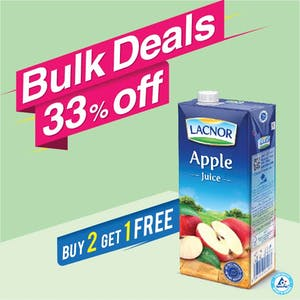 Bulk Offer Lacnor Long Life Apple 1L (Buy 2 + Get 1 Free)