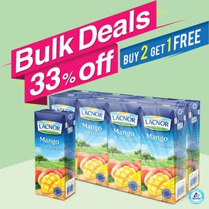 Bulk Offer Lacnor Long Life Mango 180ml Pack of 8  (Buy 2 Packs + Get 1 Pack Free)