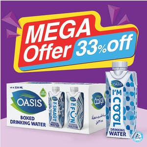Oasis 330 ml Boxed Drinking Water Regular - Pack of 18