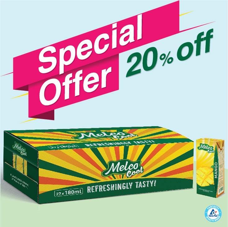 Melco Long Life Drink Mango 180ml - Carton of 27