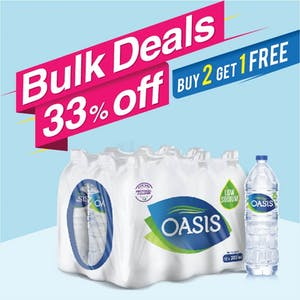 Bulk Offer Oasis Still 330 ml Pack of 12 (Buy 2 Packs + Get 1 Pack Free)