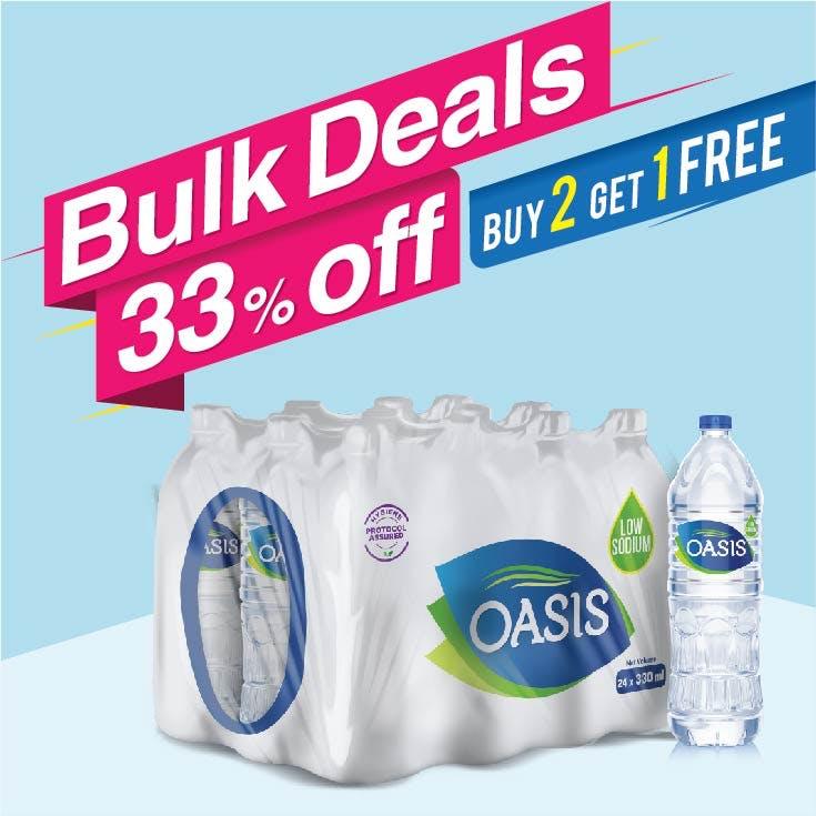Bulk Offer Oasis Still 330 ml Pack of 24  (Buy 2 Packs + Get 1 Pack Free)