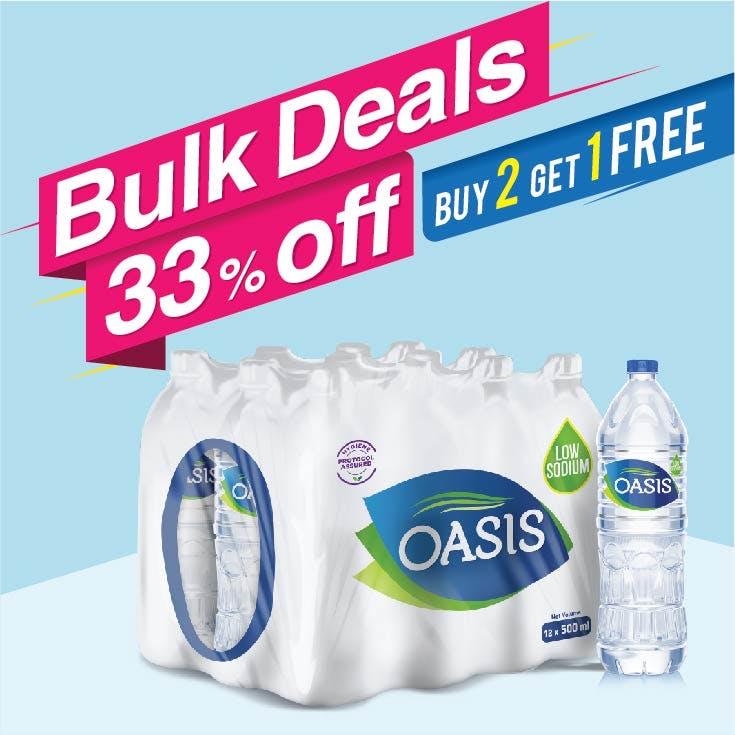 Bulk Offer Oasis Still 500 ml Pack of 12 (Buy 2 Packs + Get 1 Pack Free)