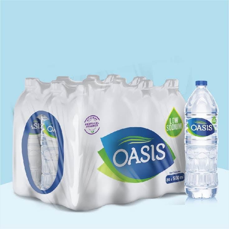 Oasis 500ml - pack of 24 bottles