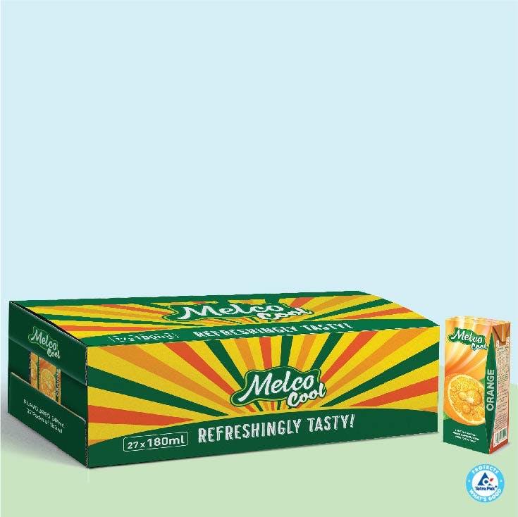 Melco Long Life Drink Orange 180ml - Carton of 27