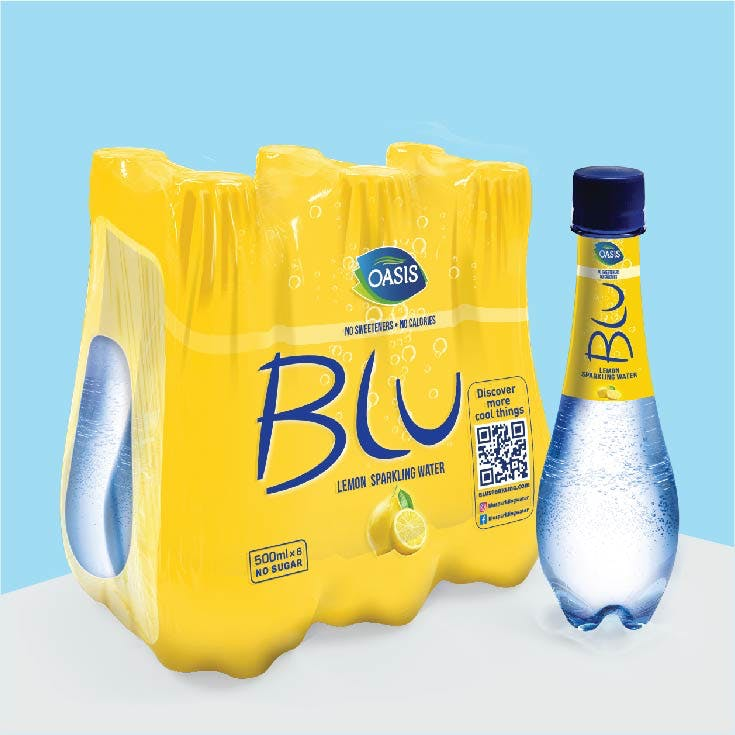Blu Sparkling 500 ml Lemon - Pack of 6