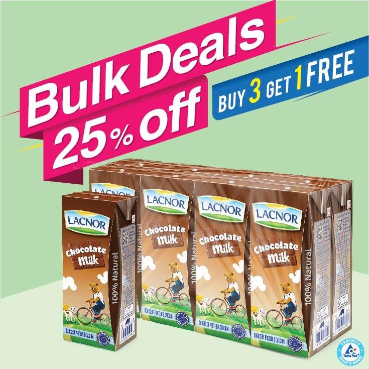 Bulk Offer Milk Chocolate 180ml Pack of 8  (Buy 3 Packs + Get 1 Pack Free)