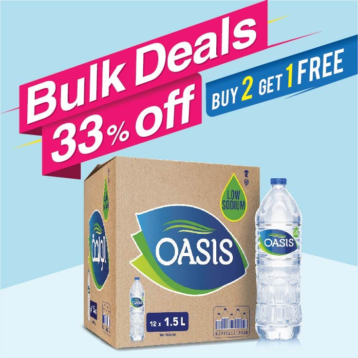 Bulk Offer Oasis 1.5L Carton of 12  (Buy 2 Cartons + Get 1 Carton Free)