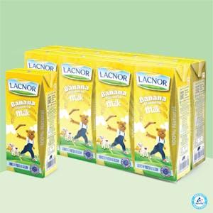 Lacnor Long Life Milk Banana - 180ml Pack of 8