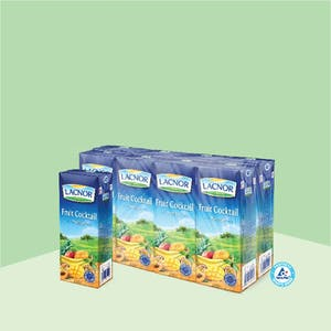 Lacnor Long Life Fruit Cocktail 180ml - Pack of 8