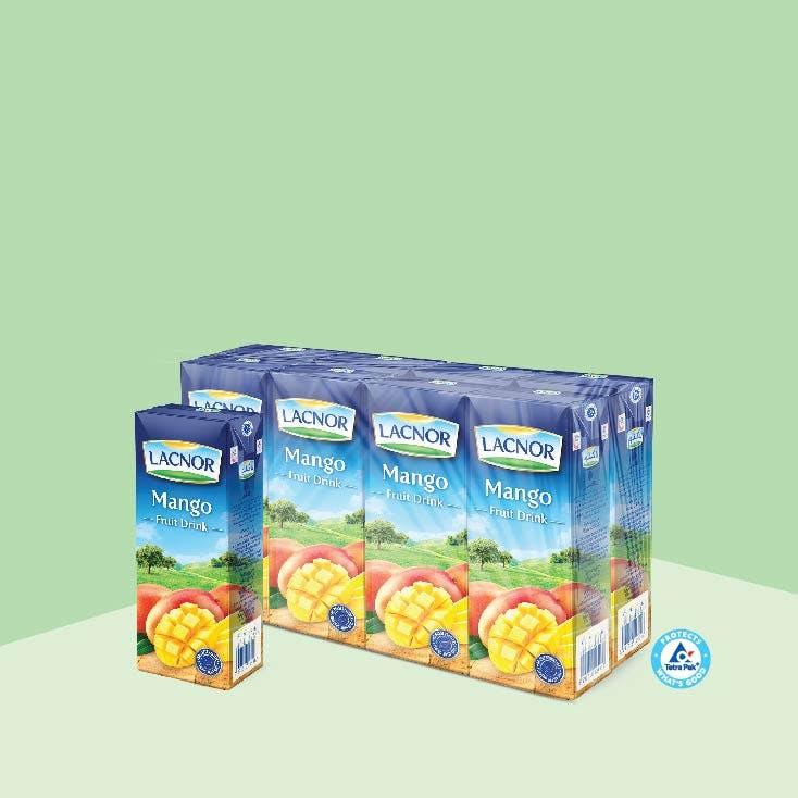 Lacnor Long Life Mango 180ml - Pack of 8