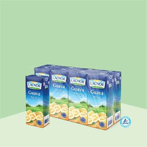 Lacnor Long Life Guava 180ml - Pack of 8