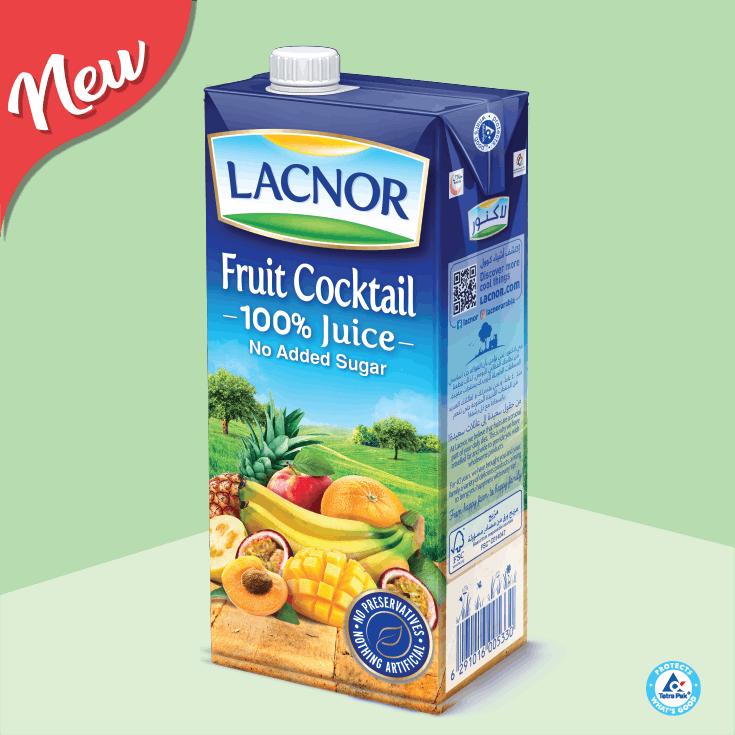 Lacnor 100% Long Life Juice Cocktail - 1L